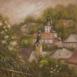 Autor: Ľubica HROMADOVÁ, Name of work: Jar v Banskej Štiavnici, Technique: akryl, Motif: landscape, architecture, Size: 30x30, Year: 2018