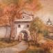 Autor: Ľubica HROMADOVÁ, Názov diela: Piargska brána, Technika: akryl, Motív: krajina, architektúra, Rozmery: 40x50, Rok: 2018