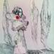 Autor: Katarína VAVROVÁ, Akademická maliarka, Názov diela: California- mesto duchov, Technika: kolorovaný lept, Motív: ostatné nezaradené, Rozmery: 29x20, Rok: 2018