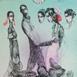 Autor: Katarína VAVROVÁ, Akademická maliarka, Názov diela: California - večer v Santa Monice, Technika: kolorovaný lept, Motív: ostatné nezaradené, Rozmery: 29x20, Rok: 2018