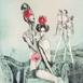 Autor: Katarína VAVROVÁ, Akademická maliarka, Názov diela: Lótove dcéry, Technika: kolorovaný lept, Motív: ostatné nezaradené, Rozmery: 29,5x29,5, Rok: 2018