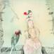 Autor: Katarína VAVROVÁ, Akademická maliarka, Názov diela: Smutinka, Technika: kolorovaný lept, Motív: ostatné nezaradené, Rozmery: 30x30, Rok: 2018
