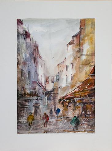 Miro  VŐRŐS - Sicília (2017), Technika: akvarel, Rozmery: 40x27