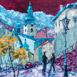 Autor: Rudolf RYPÁK, Názov diela: Banská Štiavnica - Starý zámok, Technika: olejomaľba, Motív: krajina, architektúra, Rozmery: 60x60 cm, Rok: 2018