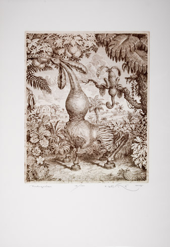 Peter KĽÚČIK, Ak. maliar - Madagaskar (2015), Technika: lept, Rozmery: 37,3x31