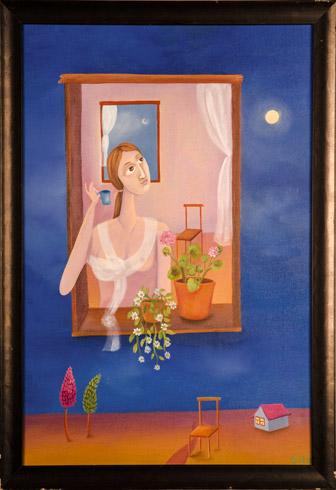 Nataša KŇJAZOVIC - Samota, Technique: olejomaľba, Size: 60x40 cm