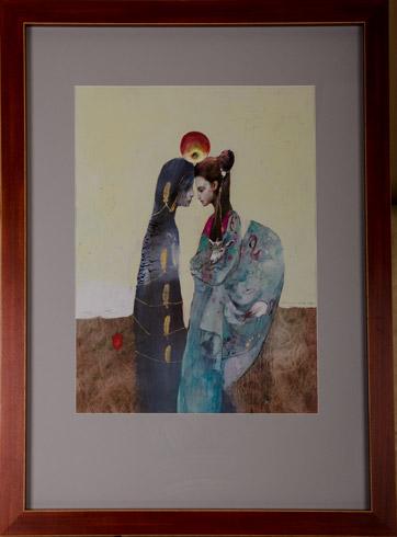Katarína VAVROVÁ, Akademická maliarka - Hra o jablko (2019), Technique: maľba na japonskom papieri, Size: 67x49