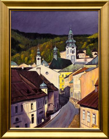 Jaroslav ÁČ - Banská Štiavnica - ulica A. Kmeťa (2016), Technique: olejomaľba, Size: 60x80