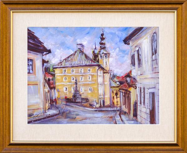 Zuzana LUKÁČOVÁ - Banská Štiavnica IV (2019), Technique: akryl, Size: 30x40 cm