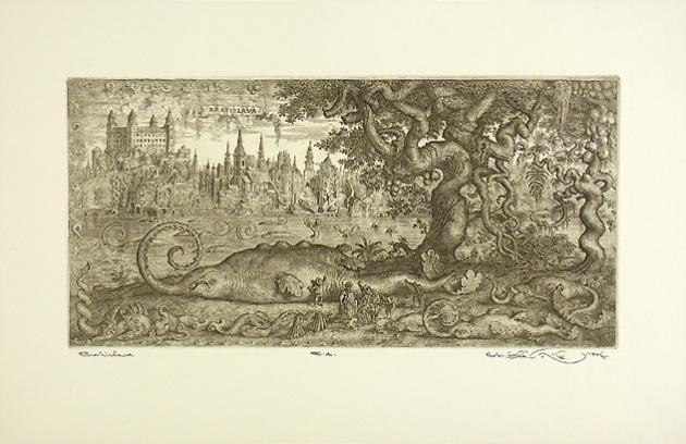 Peter KĽÚČIK, Ak. maliar - Bratislava (1994), Technika: lept, Rozmery: 18x36,5 cm