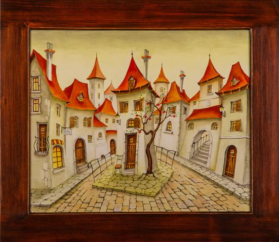 Janka  HOLÁ - Môj kúsok raja (2019), Technique: olejomaľba, Size: 51x43
