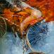Autor: Marian VIDA, Názov diela: Fragmenty III, Technika: olejomaľba, Motív: abstraktné, Rozmery: 25x23 cm, Rok: 2020