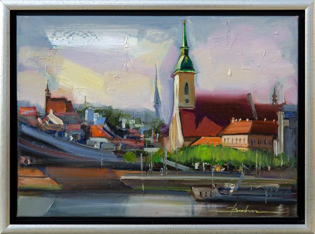 Mykola BODNÁR - Bratislava I (2020), Technika: olejomaľba, Rozmery: 30 x 42