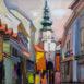 Autor: Mykola BODNÁR, Názov diela: Bratislava IV, Technika: olejomaľba, Motív: krajina, architektúra, Rozmery: 42 x 30, Rok: 2020
