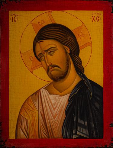Ikony  Ivan PACALAJ - Tvár Ježiša Krista (2020), Technique: maľba na dreve, Size: 30x23