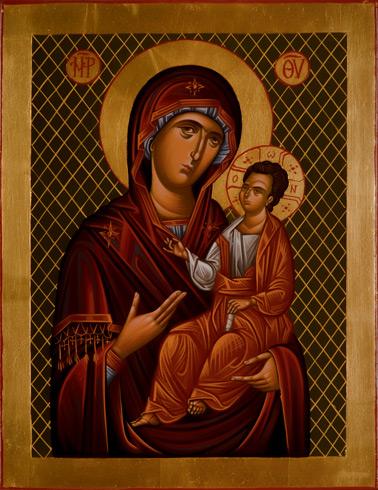 Ikony  Ivan PACALAJ - Matka s Kristom (2020), Technika: maľba na dreve, Rozmery: 30x23