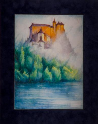 Daniela TARINOVÁ, rod. Vachálková - Oravský hrad (2020), Technique: olejomaľba, Size: 36x26
