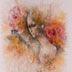 Autor: MgA. Martin AUGUSTÍN, Názov diela: Šepoty, Technika: maľba na ručnom papieri, Motív: figurálne, akty, Rozmery: 29x20, Rok: 2020