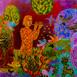 Autor: Daniela KRAJČOVÁ, Ak. maliarka, Názov diela: Svitanie, Technika: Podmaľba na skle, Motív: figurálne, akty, Rozmery: 33x38 cm, Rok: 2021