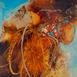 Autor: Marian VIDA, Názov diela: Kolesá, Technika: olejomaľba, Motív: abstraktné, Rozmery: 25x23 cm, Rok: 2021