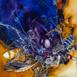 Autor: Marian VIDA, Názov diela: Mechanický morfo, Technika: olejomaľba, Motív: abstraktné, Rozmery: 25x23 cm, Rok: 2021