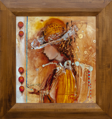 Marian VIDA - Leto (2021), Technique: olejomaľba, Size: 54x50 cm