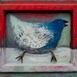 Autor: Soňa MRÁZOVÁ, Názov diela: Modrý vták, Technika: akryl na dreve, Motív: ostatné nezaradené, Rozmery: 40x50 cm, Rok: 2015