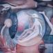 Autor: Soňa MRÁZOVÁ, Name of work: Príbeh z bubliny | Túžba potichu, Technique: akryl na plátne, Motif: figured, nudes, Size: 80x70 cm, Year: 2021