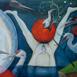 Autor: Soňa MRÁZOVÁ, Name of work: Topiaci sa slamky chytá, Technique: akryl na plátne, Motif: figured, nudes, Size: 70x70 cm, Year: 2021