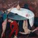 Autor: Soňa MRÁZOVÁ, Name of work: Večný hlad, Technique: akryl na plátne, Motif: figured, nudes, Size: 80x70 cm, Year: 2018