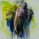 Autor: Soňa MRÁZOVÁ, Názov diela: Vták IV, Technika: akryl na plátne, Motív: ostatné nezaradené, Rozmery: 50x50 cm, Rok: 2020