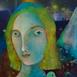 Autor: Mgr. art. Jana  Bialová, Názov diela: Anjel, Technika: akryl na sololite, Motív: figurálne, akty, Rozmery: 60x38 cm, Rok: 2018