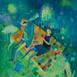 Autor: Mgr. art. Jana  Bialová, Názov diela: Biela Líška, Technika: akryl na plátne, Motív: figurálne, akty, Rozmery: 40x30 cm, Rok: 2021