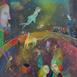 Autor: Mgr. art. Jana  Bialová, Názov diela: Cirkus, Technika: akryl na sololite, Motív: figurálne, akty, Rozmery: 50x43 cm, Rok: 2016