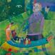 Autor: Mgr. art. Jana  Bialová, Názov diela: Deti, Technika: akryl na plátne, Motív: figurálne, akty, Rozmery: 30x24 cm, Rok: 2019