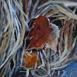 Autor: Zuzana BOBOVSKÁ, Názov diela: Novembrové listy III, Technika: akryl na sololite, Motív: krajina, architektúra, Rozmery: 18x18 cm, Rok: 2018