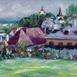 Autor: Jozef  CHRENA, Názov diela: Banská Štiavnica zo dvora, Technika: olejomaľba, Motív: krajina, architektúra, Rozmery: 40x60cm, Rok: 2021