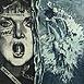 Autor: Dušan GREČNER, Akademický maliar, Názov diela: Zanikanie Venuše, Technika: lept, Motív: figurálne, akty, Rozmery: 15x14 cm, Rok: 1984