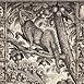Autor: Peter KĽÚČIK, Ak. maliar, Názov diela: Narodenie Ježiška, Technika: lept, Motív: ostatné nezaradené, Rozmery: 23,5x15,5 cm, Rok: 1994